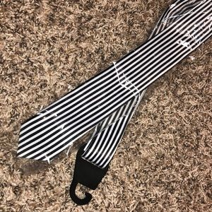 Accessories - NEW! Black and white Stripped Skinny Tie